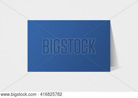 Blank customized blue business card