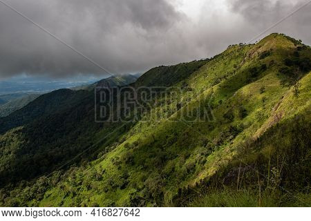 Beautiful View Of The Mountain Range Of Doi Luang Phayao National Park One Of The Largest National P
