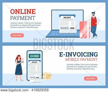 People Pay For Receipts And E-invoices Online From Digital Electronic Bill.