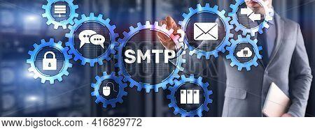 Simple Mail Transfer Protocol. Smtp Server Mail Transfer Protocol. Tcp Ip Protocol Sending And Recei