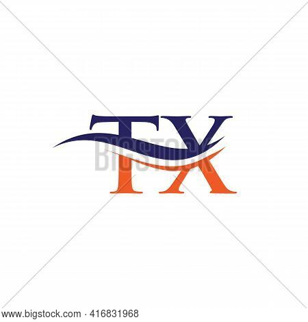 Modern Tx Logo Design For Business And Company Identity. Creative Tx Letter With Luxury Concept.