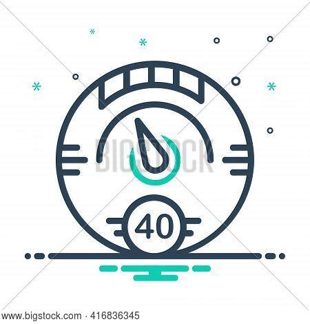 Mix Icon For Digital-gauge Digital Gauge Speedometer Meter Tachometer Indicator