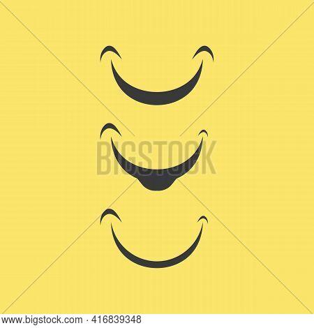 Smile Icon, Smile, Logo Vector Design Happy Emoticon Business, Funny Design And Vector Emoji Happine