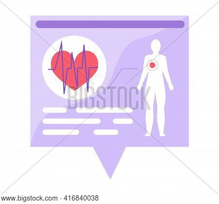Billboard, Poster On Topic Of Cardiology, Structure Of Human Cardiovascular System, Cardiogram