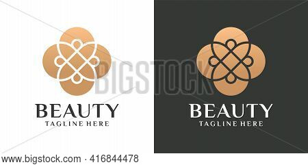Feminine Flower Beauty Logo Vector Design Inspiration. Logo Can Be Used For Icon, Brand, Identity, H