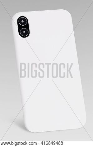White mobile phone case mockup product showcase