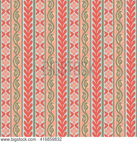 Persian Traditional Ornament. Seamless Pattern With Floral Ornament. Ancient Traditions. Vector.