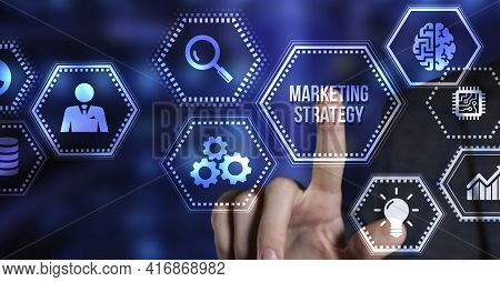 Internet, Business, Technology And Network Concept. Digital Marketing Content Planning Advertising S