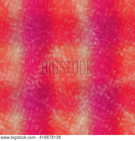 Horizontal Blurry Ombre Blend Textured Stripe Background. Variegated Pastel Line Melange Seamless Pa