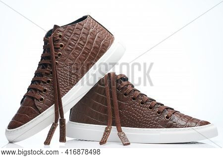 Pair Of Modern Leather Sneaker Shoes