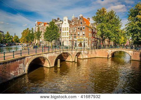Bridges over canals in Amsterdam