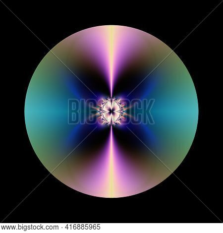 Fantastic Abstract Glowing Sphere Background Design Object