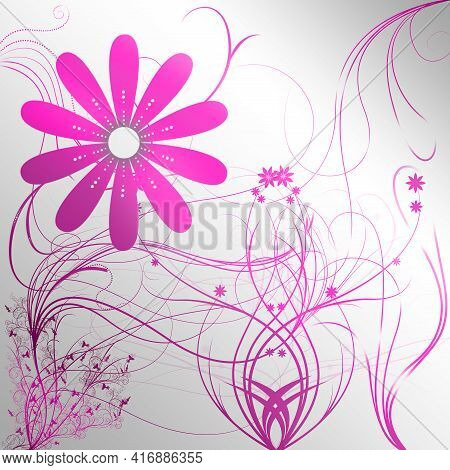 Beautiful Tender Abstract Flower Background Design Illustration