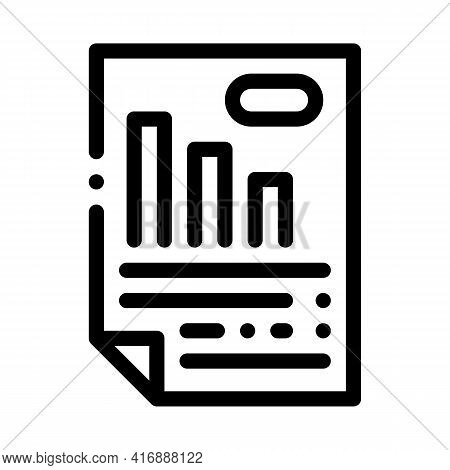 Analyzing And Researching Infographic Line Icon Vector. Analyzing And Researching Infographic Sign.
