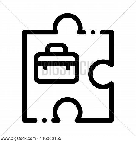 Business Case Administrator Line Icon Vector. Business Case Administrator Sign. Isolated Contour Sym