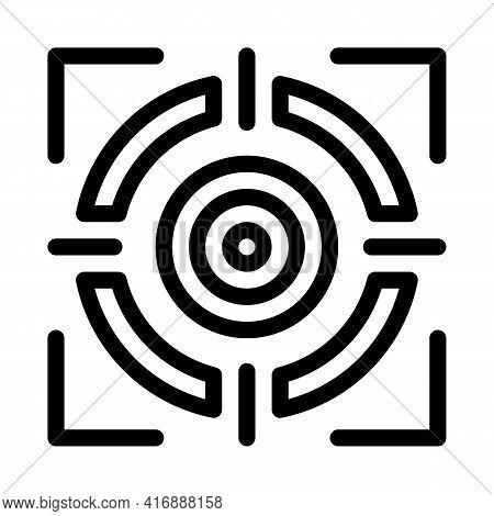 Target Achievement Administrator Line Icon Vector. Target Achievement Administrator Sign. Isolated C