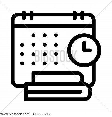Schedule And Daily Routine Of Administrator Line Icon Vector. Schedule And Daily Routine Of Administ