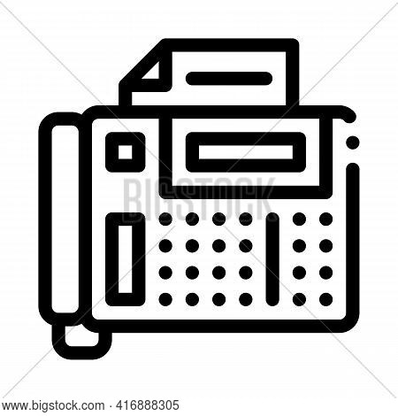 Answering Fax Administrator Line Icon Vector. Answering Fax Administrator Sign. Isolated Contour Sym