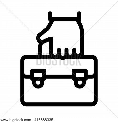 Holding Case Administrator Line Icon Vector. Holding Case Administrator Sign. Isolated Contour Symbo