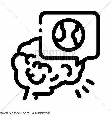 Stroke Due Atherosclerosis Line Icon Vector. Stroke Due Atherosclerosis Sign. Isolated Contour Symbo