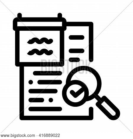 Researching And Accepting Finance Audit Line Icon Vector. Researching And Accepting Finance Audit Si