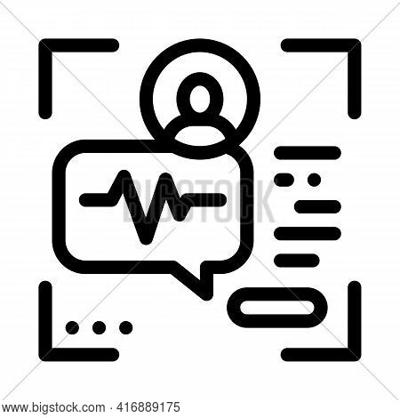 Voice Identity Line Icon Vector. Voice Identity Sign. Isolated Contour Symbol Black Illustration