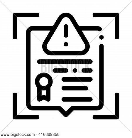False License Line Icon Vector. False License Sign. Isolated Contour Symbol Black Illustration