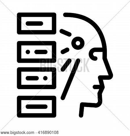 Algorithm Machine Learning Line Icon Vector. Algorithm Machine Learning Sign. Isolated Contour Symbo