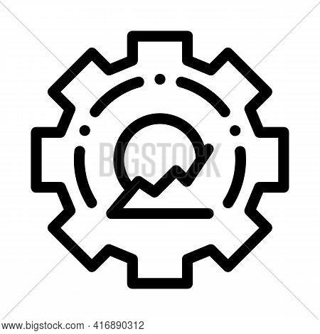 Process Policy Line Icon Vector. Process Policy Sign. Isolated Contour Symbol Black Illustration