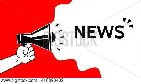 News, Promotion Concept Symbol Design. Simple Element Illustration. . Online Web And Mobile. Promote