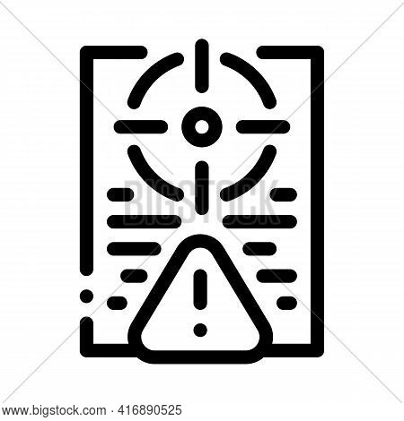 Risk Policy Line Icon Vector. Risk Policy Sign. Isolated Contour Symbol Black Illustration
