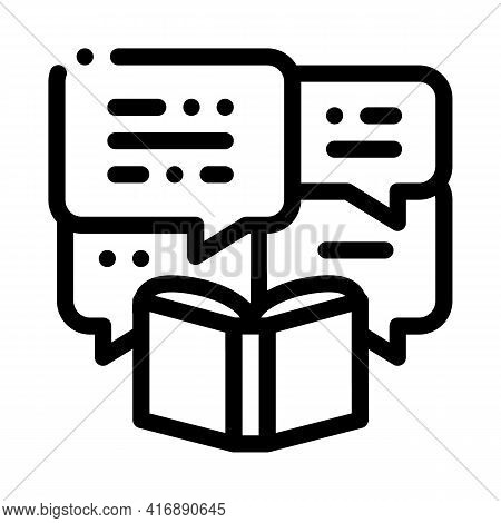 Story Researcher Line Icon Vector. Story Researcher Sign. Isolated Contour Symbol Black Illustration