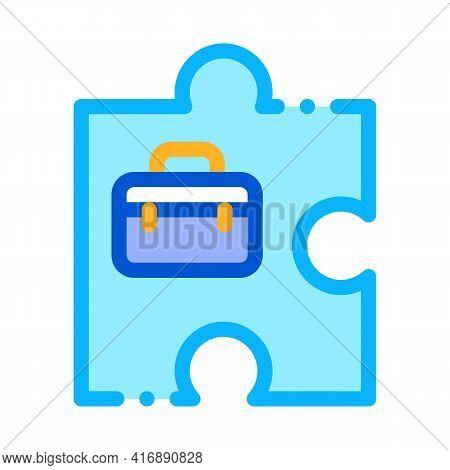 Business Case Administrator Color Icon Vector. Business Case Administrator Sign. Isolated Symbol Ill