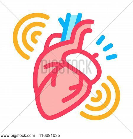 Heart Attack Color Icon Vector. Heart Attack Sign. Isolated Symbol Illustration