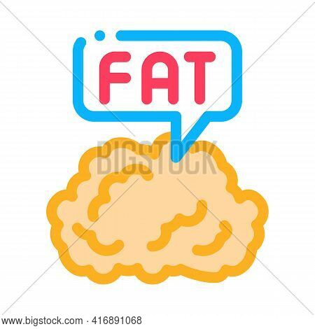 Fat Atherosclerosis Color Icon Vector. Fat Atherosclerosis Sign. Isolated Symbol Illustration