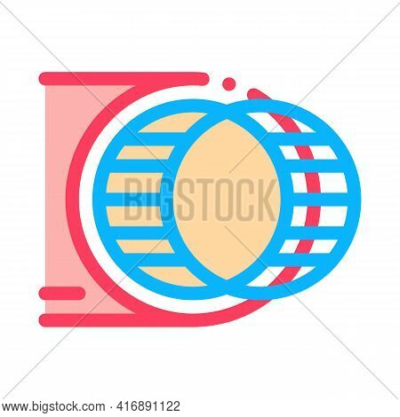 Strengthening Blood Vessel Color Icon Vector. Strengthening Blood Vessel Sign. Isolated Symbol Illus