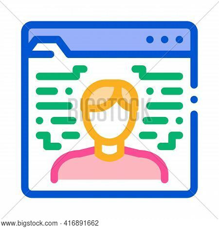 Human Electronic Identity Color Icon Vector. Human Electronic Identity Sign. Isolated Symbol Illustr