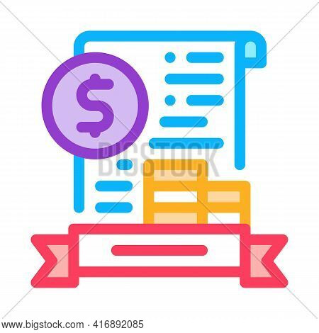 Banking License Color Icon Vector. Banking License Sign. Isolated Symbol Illustration