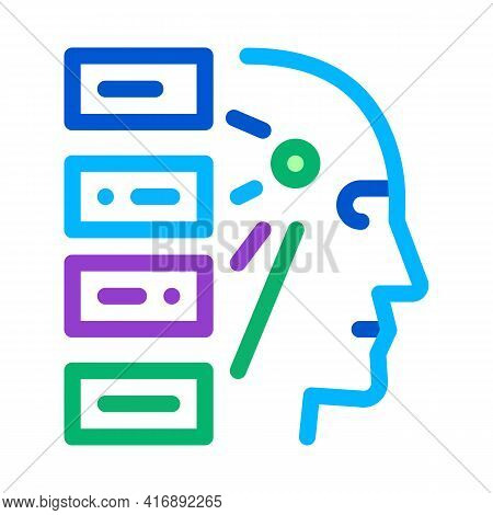 Algorithm Machine Learning Color Icon Vector. Algorithm Machine Learning Sign. Isolated Symbol Illus