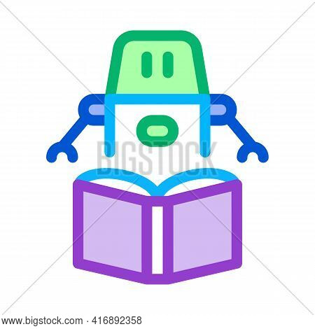 Robot Automatic Solution Color Icon Vector. Robot Automatic Solution Sign. Isolated Symbol Illustrat
