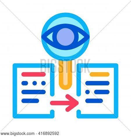 Conformity Of Document Policy Color Icon Vector. Conformity Of Document Policy Sign. Isolated Symbol