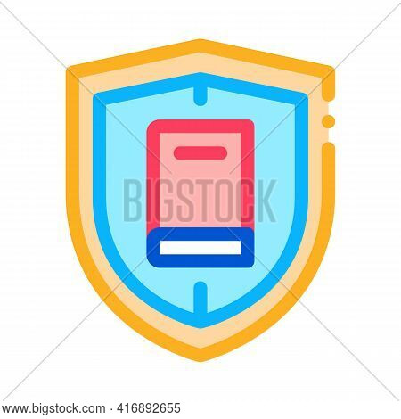 Shield Policy Color Icon Vector. Shield Policy Sign. Isolated Symbol Illustration