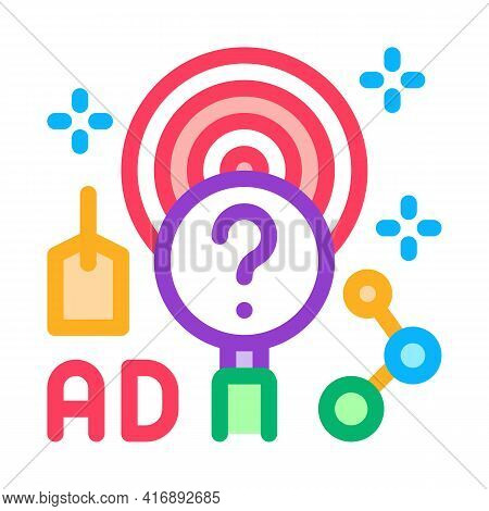 Marketing Researcher Color Icon Vector. Marketing Researcher Sign. Isolated Symbol Illustration