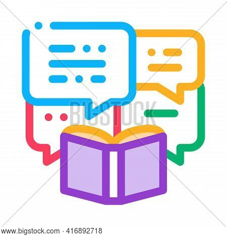 Story Researcher Color Icon Vector. Story Researcher Sign. Isolated Symbol Illustration
