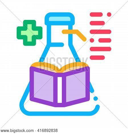 Medicine Researcher Color Icon Vector. Medicine Researcher Sign. Isolated Symbol Illustration