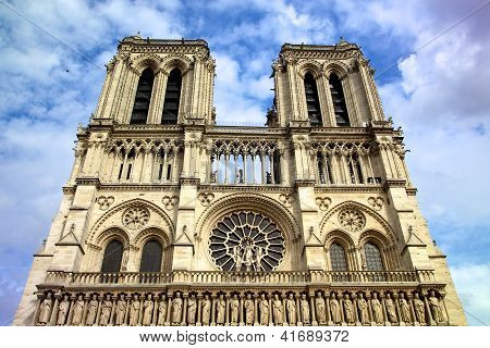 Cathedral Notre Dame De Paris, France