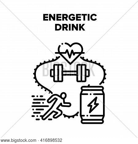 Energetic Drink Vector Icon Concept. Energetic Drink For Physical Activity In Gym. Energy Beverage P