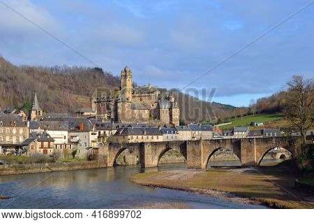 Château Estaing in france in the Aveyron department near the river Lot