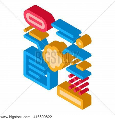 Information And Characteristics Of Atherosclerosis Color Icon Vector. Isometric Information And Char
