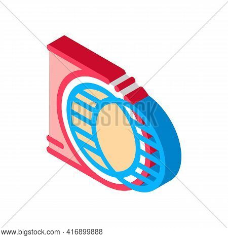 Strengthening Blood Vessel Color Icon Vector. Isometric Strengthening Blood Vessel Sign. Color Isola